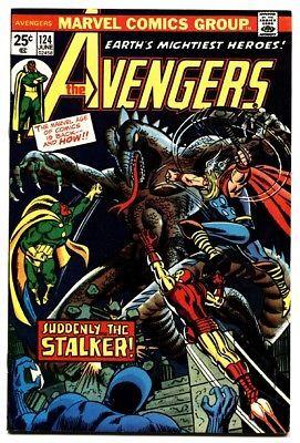 AVENGERS #124 comic book-iron man-Thor-captain america-1974