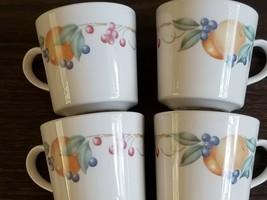Corning Ware Abundance Coffee Mugs Set of 4 ~ Corelle Corningware ~ Fruit Design - $25.34