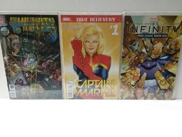 CAPTAIN MARVEL #1 + INFINITY + INFINITY GAUNTLET 3D COVER #1 - FREE SHIP... - $18.70