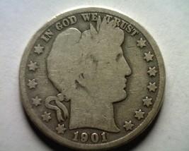 1901 Barber Half Dollar Good G Nice Original Coin From Bobs Coins Fast Shipment - $22.00