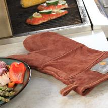 Outset Durable Leather Bbq Grill Mitt Heat/Fire Protection Oven Glove Sa... - $34.00