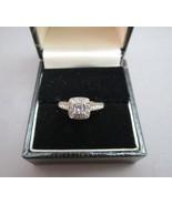 FD 14k White Gold Ring Princess Cut Diamond 1/2ctw Engagement 3.25g Fili... - $346.49