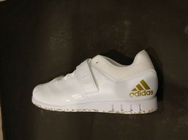 ADIDAS POWERLIFT 3.1 WHITE/GOLD WEIGHTLIFTING SIZE 13 BRAND NEW (AC7467) - $69.00