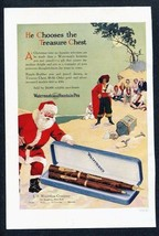 1926 Christmas Santa Ad Print  WATERMAN'S IDEAL FOUNTAIN PEN Pirate's Tr... - $7.64