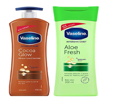 Vaseline Intensive Care Cocoa Glow Body Lotion, 400 ml &  Care Aloe Fres... - $27.99
