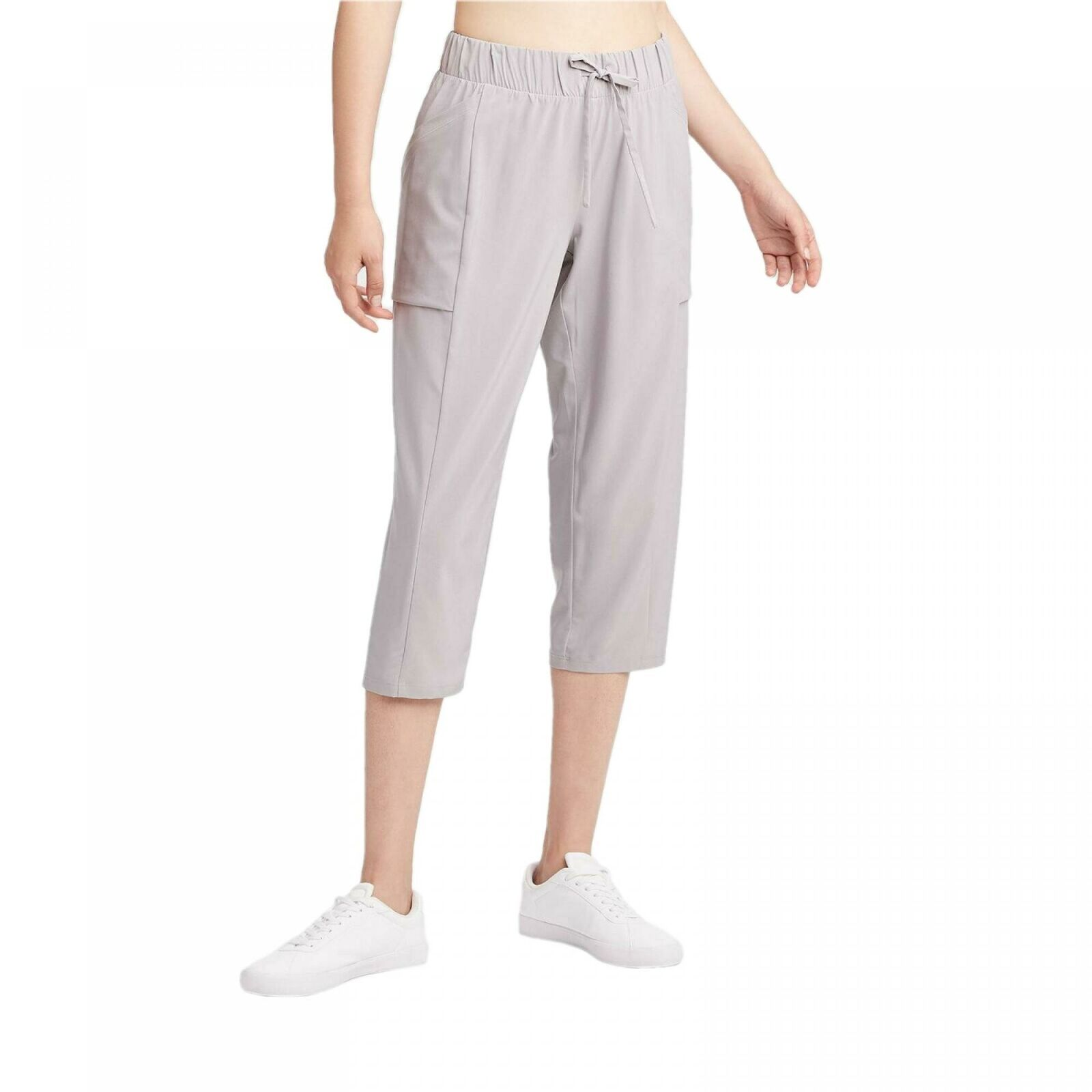 Primary image for All in Motion All In Motion Women's Stretch Woven Capri Pants Light Grey