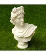 Bust Apollo Belvedere Leochares Sculpture Miniature Replica Reproduction... - $10.99