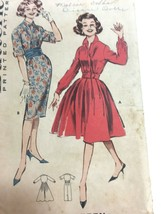 Vintage 1950s Sewing Pattern Butterick 9010 Women's Shirt Dress Size 9 B... - $8.03