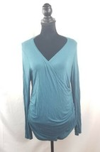 Calvin Klein women's top size xl long sleeves teal stretch - $23.53