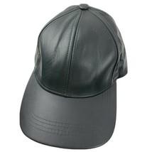 Genuine Leather Black Adjustable Adult Ball Cap Hat - $24.74