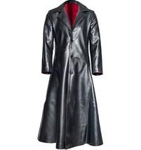 Blade vampire Halloween Leather Genuine Real  Men Leather Coat