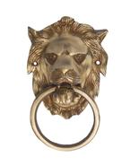 Aakrati Metalware Door Knocker Of Lion Yellow - $58.99