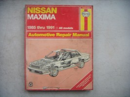Nissan Maxima,  Haynes Repair Manual, Service Guide 1985-1991. Book - $10.40