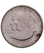 1923-S 50C Monroe Commémoratif Argent Demi Dollar En Au État Fort Luster - £40.91 GBP