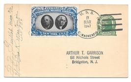 Navy Ship Cancel 1947 USS Geo K Mackenzi CIPEX Poster Stamp Cinderella T... - $9.95