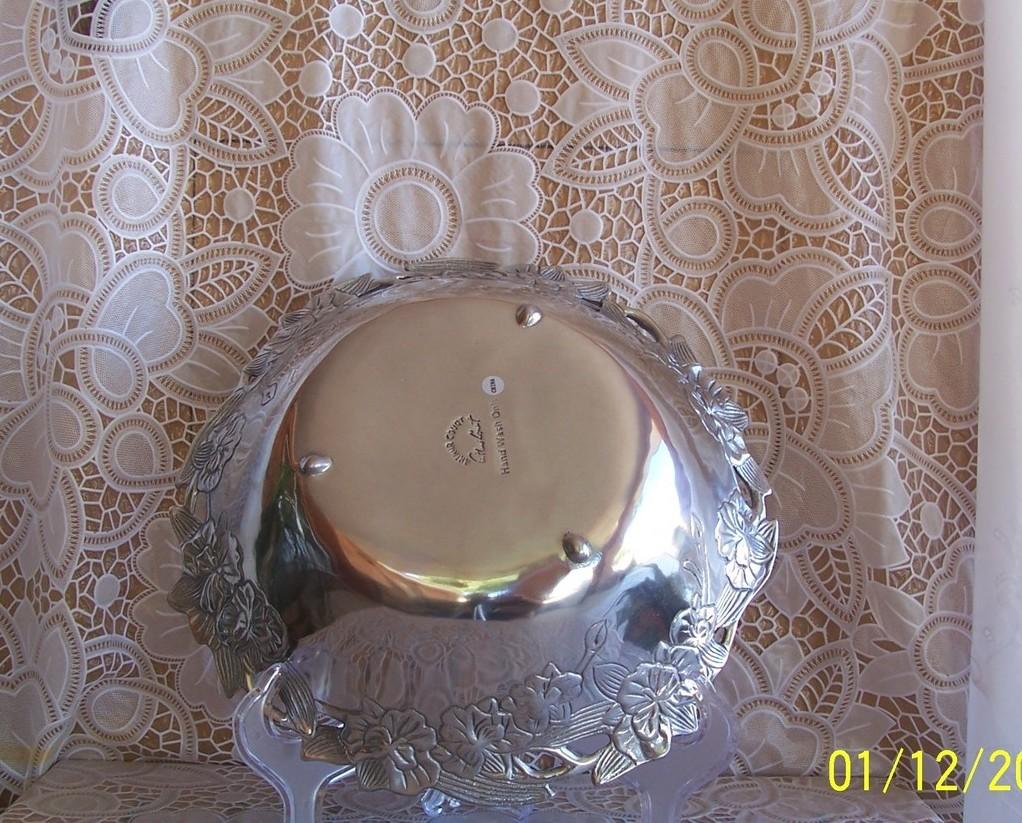 "Arthur Court Designs Orchid 12"" Salad Bowl NIB"
