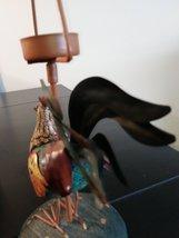Unique Metal/Ceramic  Rooster Candle Holder image 3
