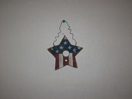 wooden patriotic star - $5.00