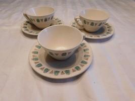 Metlox Poppytrail Cups Tea Coffee Saucers Plates California   - $8.77