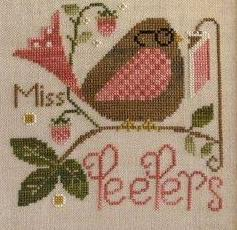 Miss Peepers cross stitch chart Little House Needleworks