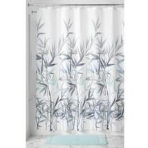 "Interdesign Anzu Fabric Shower Curtain, 72"" Inches X 72"" Inches, Mint/Gray - $11.39"