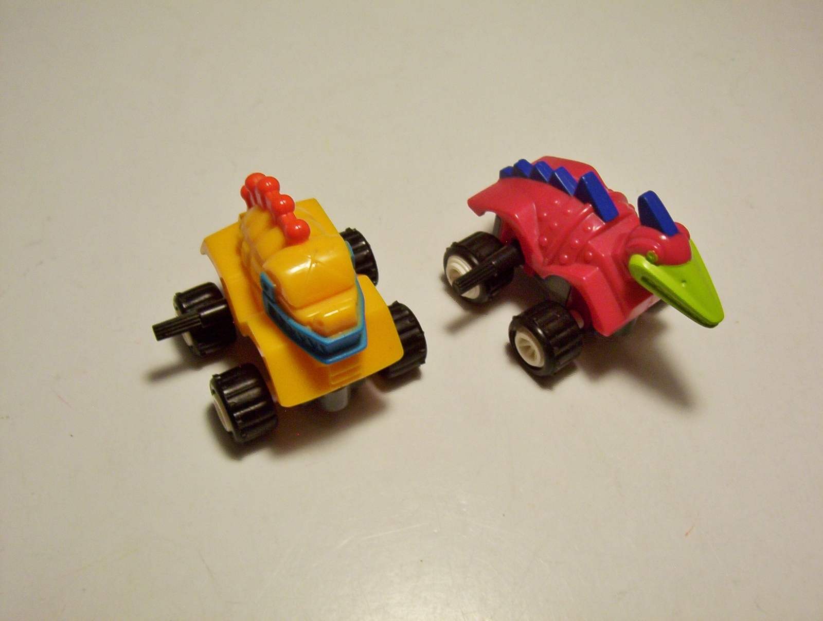 Primary image for 2 Dino Crawlers Wind Up Dinosaur Vehicles Burger King Kids Club 1994
