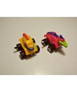 2 Dino Crawlers Wind Up Dinosaur Vehicles Burger King Kids Club 1994 - $4.99