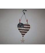 patriotic heart shaped plaque - $12.00