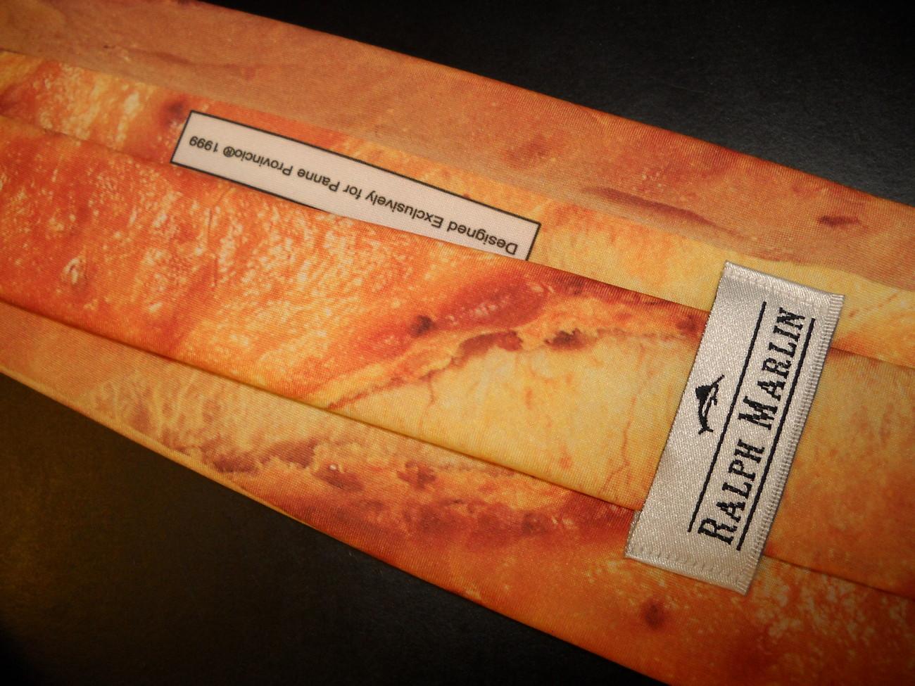 Ralph Marlin Neck Tie Panne Provincio One Long Fresh Baked Crusty Baguette Look