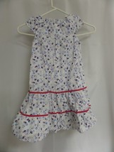 Girls Carters Size 6 Sleeveless Dress Floral White W/FLOWER - $14.00