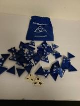 PRESSMAN Tri-Ominos Game - Blue Tiles in Pouch Bag EUC  - $7.50