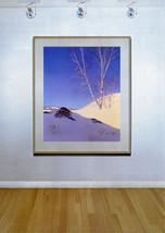 White Birches in Sun 22x30 Hand Numbered Ltd. Edition Maxfield Parrish Art Deco image 2
