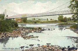 Fitchs Bridge Elmira New York vintage 1911 Post Card - $5.00