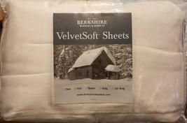 Berkshire Blanket VelvetSoft Sheet 4 pc Set Cream Sheets New - $65.45