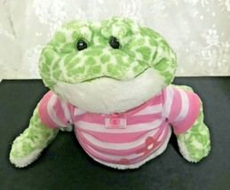 "GANZ Webkinz Spotted Frog HM142 7.5"" Sitting Fat Belly with Pink Shirt - $11.39"