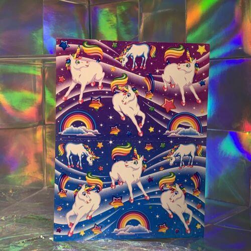 ⚡️SALE S277 Lisa Frank Full Sticker Sheet Markie The Unicorn HIGHLY SOUGHT AFT
