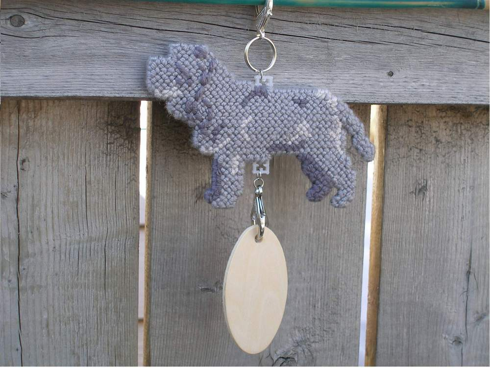Neapolitan Mastiff crate tag or hang anywhere, handmade dog kennel art accessory