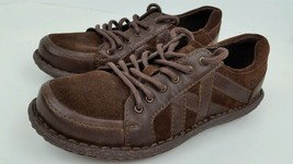 New Born Women's Sz 7.5 M Brown Leather Casual Lace Up Oxfords Ships Fast No Box - $49.21 CAD