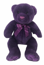 "Kids Preferred Purple Teddy Bear 17"" Plush Stuffed Animal Toy With Satin... - $29.44"
