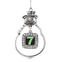 Inspired Silver Lucky Seven Classic Snowman Holiday Christmas Tree Ornament With - $14.69