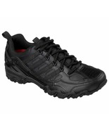 Skechers Black Shoe Women Work Slip Resistant EH Safe Lace Up Soft Leath... - $49.99