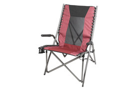 Ozark Trail Bungee High Back Chair Portable Folding Seat Padded Arm Rest... - $50.65