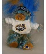 World Series Blue brown plush bear w Tshirt Major League Genuine Merchan... - $12.86