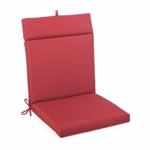 "Brick Red Outdoor Patio Chair Cushion Pad Hinged Seat Back 44"" L x 22"" W - $58.90"