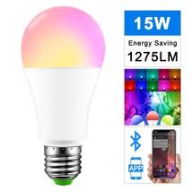 E27 15W Smart RGB Bulb Lamp Wireless Bluetooth Speaker Bulb Music Player... - €17,88 EUR