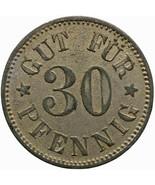 Rare 1916 - 1918 30 Pfennig Germany Coin Munich Notgeld (MO1468-) - $62.00