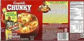 reggie white green bay packer campbells soup label 1997 rare - $3.99