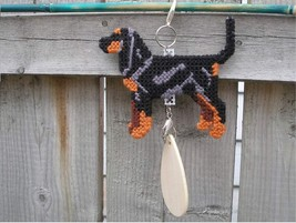 Black and Tan Coonhound crate tag or hang anywhere Handmade hound scenth... - $24.00