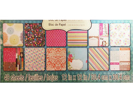 Recollections Fabulous Girl Cardstock Paper Pad 48 Sheets image 2