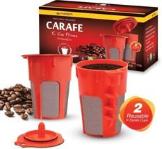 Housewares Solutions 2 Refillable/Reusable Carafe K Cup Filters for Keu... - $18.72